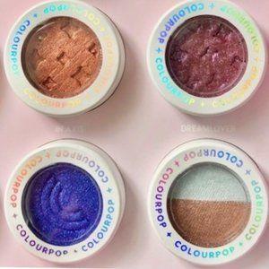 ColourPop Super Shock Eyeyshadow 4 Set Bundle NEW